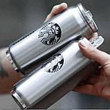 """Термос-банка Starbucks """" Старбакс Элит"""" с клапаном и трубочкой 500 мл стальной, фото 3"""