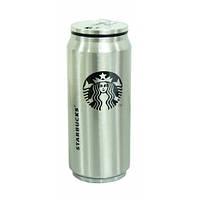 """Термос-банка Starbucks """"Звездный бакс Элит"""" с клапаном и трубочкой 300 мл (стальной)"""