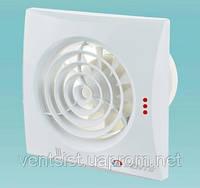 Малошумный вытяжной вентилятор настенно-потолочный Вентс 100 Квайт
