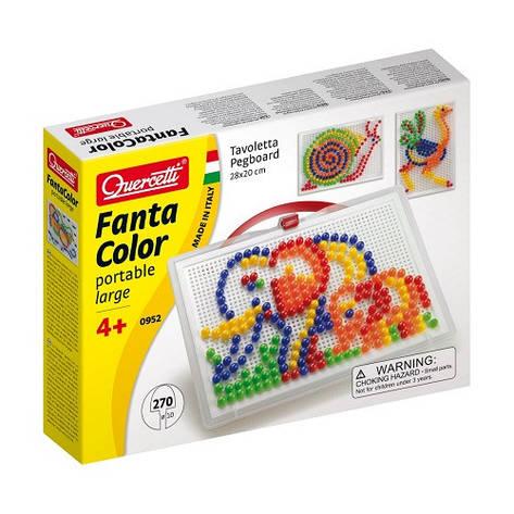 Развивающие и обучающие игрушки «Quercetti» (0952-Q) набор мозаики FantaColor Portable, 270 фишек и доска, фото 2