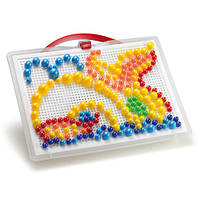 Развивающие и обучающие игрушки «Quercetti» (0950-Q) набор мозаики FantaColor Portable, 280 фишек и доска
