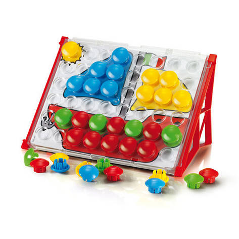 Развивающие и обучающие игрушки «Quercetti» (4195-Q) набор мозаики FantaColor Junior, 48 фишек и доска, фото 2