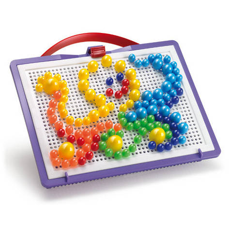 Развивающие и обучающие игрушки «Quercetti» (0920-Q) набор мозаики FantaColor Portable, 160 фишек и доска, фото 2