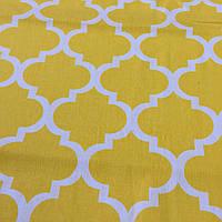 Ткань с узором Марокко желтого цвета, фото 1