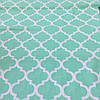 Ткань с узором Марокко мятного цвета, ширина 160 см