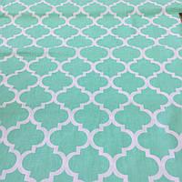 Ткань с узором Марокко мятного цвета, ширина 160 см, фото 1