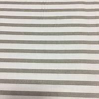 Ткань с серой полоской на белом фоне, ширина 160 см, фото 1