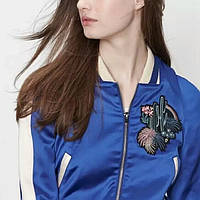 "Куртка бомбер ""Кактус"" синяя, фото 1"