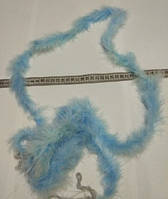 Пушистая тесьма для карнавальных костюмов, аксессуаров, длина 2 м. Голубая, фото 1