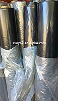 Пленка черная, 130мкм 3м/100м. полиэтиленовая (для мульчирования, строительная).