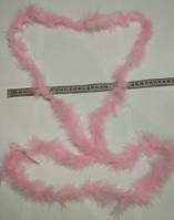 Пушистая лента для карнавальных костюмов, аксессуаров, длина 2 м. Розовая