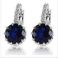 Серьги Синий кристалл