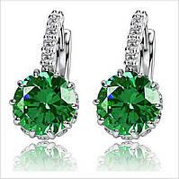 Серьги Зеленый кристалл