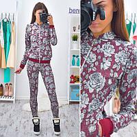 Костюм женский теплый из ангоры кофта и лосины разные расцветки 6Db212, фото 1
