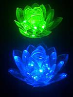 Светильник ночник Цветок Лилии синий, фото 1