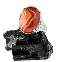 Оникс, серебро 925, кольцо, 208КА