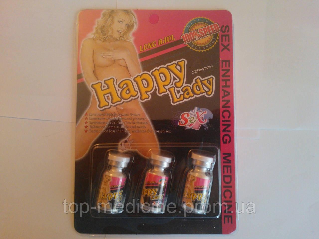 Happy Lady - женский возбудитель. 3 бут