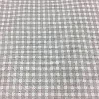 Ткань с мелкой серой клеточкой на белом фоне, фото 1