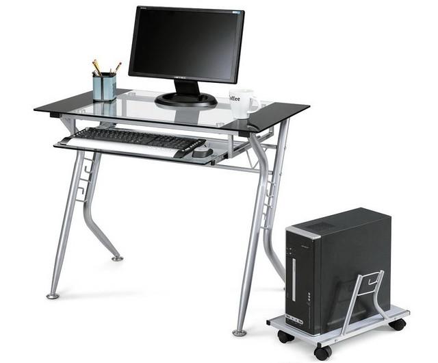 Столи комп'ютерні (метал-скло)