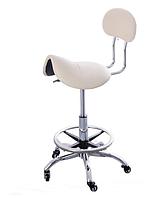 Стульчик мастера CH-444 седло, для косметолога, для медработника, для стоматолога, бежевый
