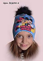 Детская шапка на флисе Минни 8