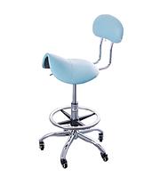 Стульчик мастера CH-444 седло, для косметолога, для медработника, для стоматолога, цвет голубой