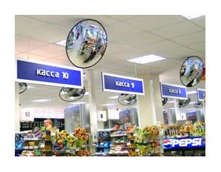 Сферические зеркала безопасности в магазине