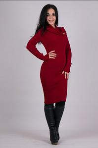 Модное вязаное женское платье