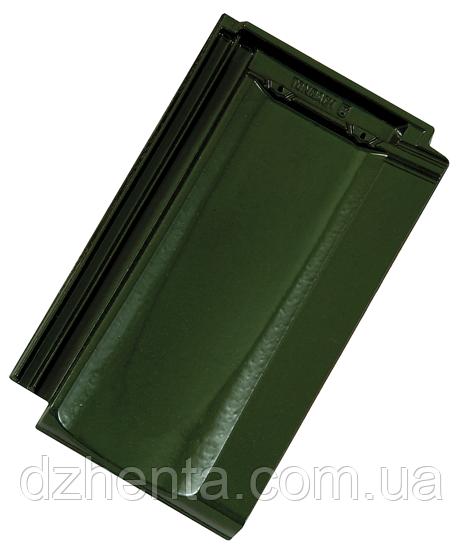 Керамическая черепица TONDACH Мулде болотно-зеленая глазурь F307y
