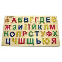 Деревянна игрушка Досточка - вкладыш Алфавит украинский