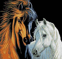 """Набор алмазной вышивки (мозаики) """"Прекрасная пара. Лошади"""""""