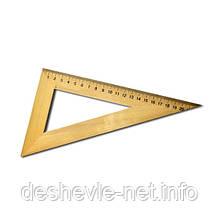 Треугольник деревянный 22 см. (60*30*90)