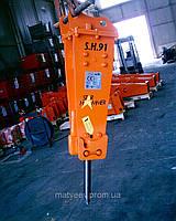 Гидромолот 100 кг на міні екскаватор 1т-3т