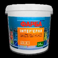 Интерьерная краска (водоэмульсионная) ЭКО 14,0 кг / белая