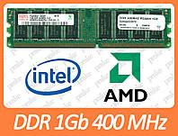 DDR 1Gb 400Мгц (3200) Intel/AMD для ПК б/у  разные производители