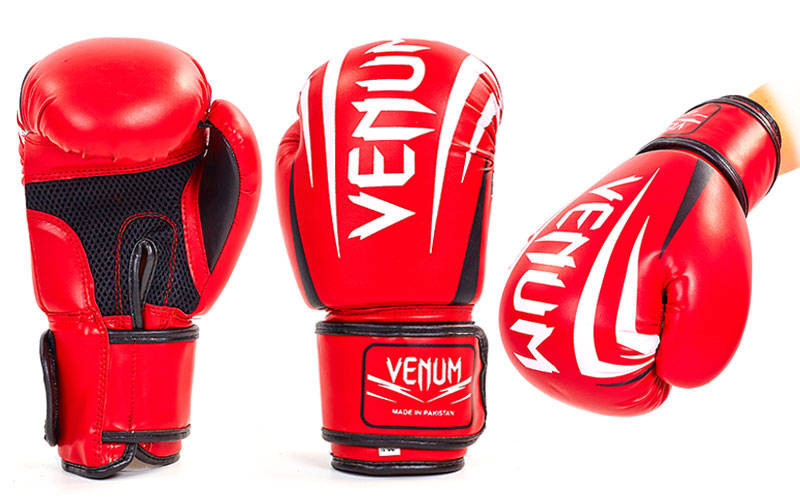 Перчатки для бокса Venum Pu Rdx(полиуретан) 10 oz красные реплика