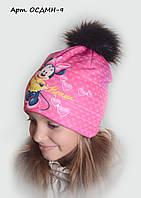 Детская шапка на флисе Минни 9
