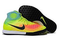 Футбольные сороконожки Nike MagistaX Proximo II TF Volt/Black/Total Orange, фото 1
