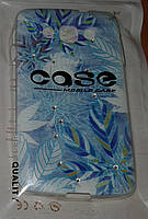 Чехол накладка для LG L60 x135 x145 со стразами