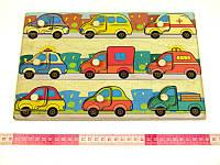 Деревянная игрушка Досточка вкладки Машинки Подбери Дверцу, фото 1