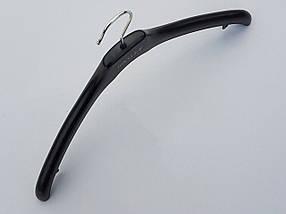 Плечики  комиссионные б/у  Coronet NF-44 (Basler) гладкий черного цвета, длина 44 см, фото 3