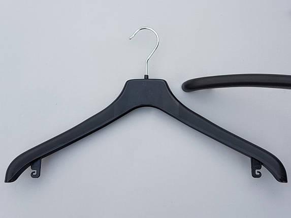 Плечики  вешалки  тремпеля Coronet NF-44 шероховатый  черного цвета, длина 44 см, фото 2
