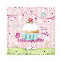 """Салфетка для декупажа """"Lovely Cup Cake"""", размер 33*33 см, трехслойная"""