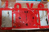 """Часы настенные с надписью """"LOVE"""""""