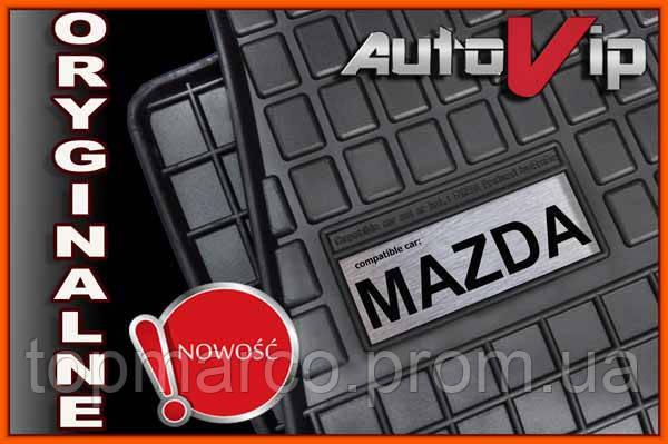 Резиновые коврики MAZDA PREMACY 2005-  с логотипом