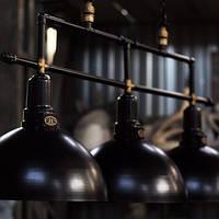 Потолочный подвесной светильник loft Steampunk hand-made [ Lamp Round -3 ]