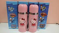 Детский термос Hello Kitty (Хеллоу Китти) со шнурком 350 мл