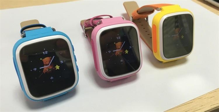 2eb28e73b6f1 ... Детские умные часы телефон Smart Baby Watch Q80 c GPS и сенсорным  цветным экраном (оранжевые ...
