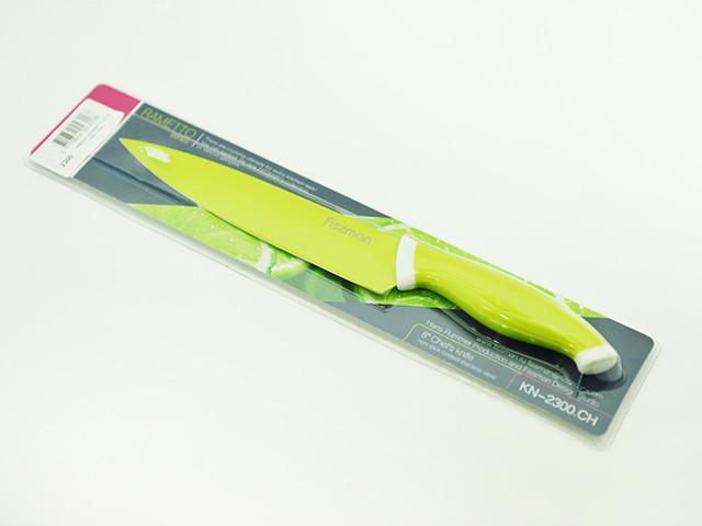 Поварской нож 20 см с нержавеющей стали Fissman Rametto Lime (KN-2300.CH)