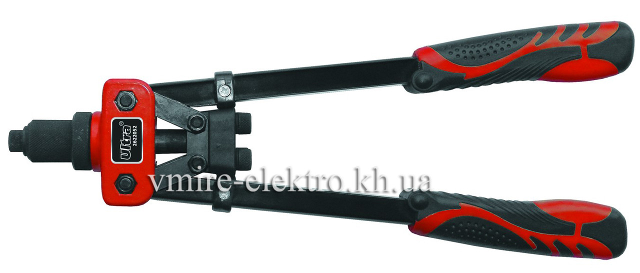 Заклепочник дворучний Ultra 360 мм посилений Ø 2,4; 3,2; 4; 4,8; 6; 6,4 мм